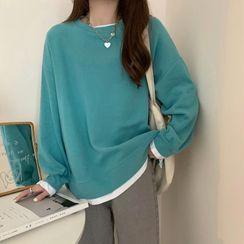 Soswift - Mock Two-Piece Sweatshirt