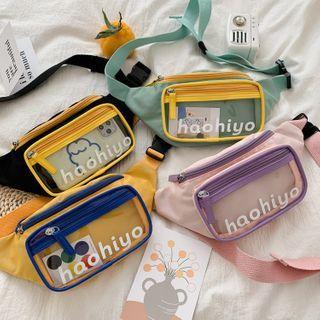 OUCHA - Lettering PVC Panel Sling Bag