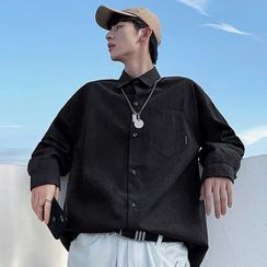 Wescosso - Plain Long-Sleeve Shirt
