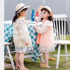 Dolphin Dream - Kids Hooded Lace Jacket