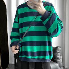 Newise(ニュワイズ) - Striped Sweatshirt