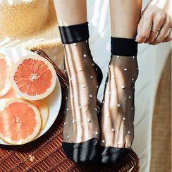 MITU - Polka Dot Sheer Socks