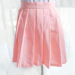 Nikiki - Pleated A-Line Skirt
