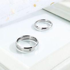 騰翼 - 情侶款水鑽戒指