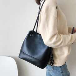 Echinops(エキノプス) - Faux Leather Bucket Bag