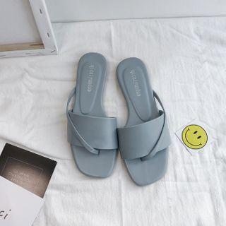 HOGG - Square-Toe Flat Slide Sandals