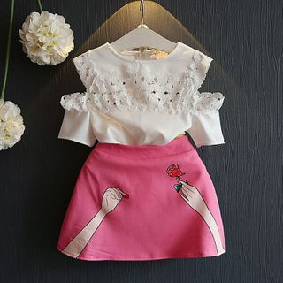 ZiG ZaG - Kids Set: Short-Sleeve Top + Skirt