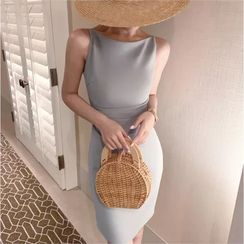 Paila - 无袖纯色塑身连衣裙