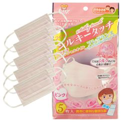 Hapi - Fitty Silky Touch Rose Pink Smaller Face Mask (5 pcs)