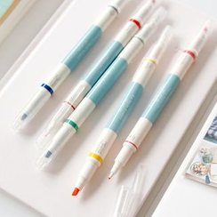 Full House - Iconic - Set of 5: Multicolored Double-Tipped Pens