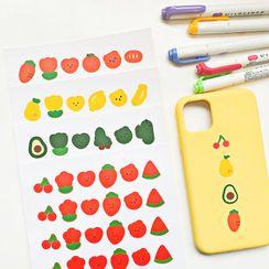 Carche - Cartoon Fruit Sticker (various designs)