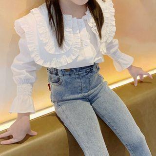 AMIS - Family Matching Layered Collar Long-Sleeve Shirt