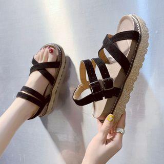 BARCA - 交叉踝帶平跟涼鞋