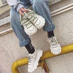 Yuki Yoru - Lettering Platform Sneakers