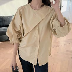 HW Studio - Puff-Sleeve Button-Up Blouse