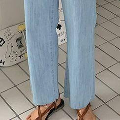 FROMBEGINNING - Braided Cross-Strap Slide Sandals