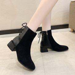 Miloko - Block Heel Short Boots