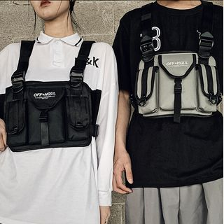 SUNMAN - 飾扣實用背心袋