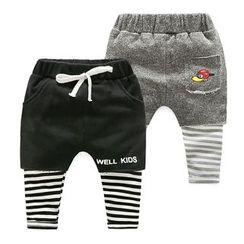 WellKids - 童装假两件内搭裤短裤