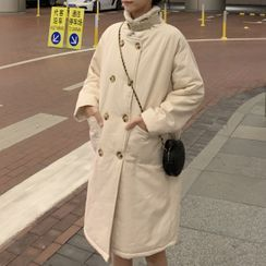 Natta - Fleece-Lined Double-Breasted Coat