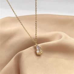 Madikara - Rhinestone Drop Pendant Necklace