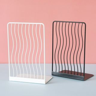 Geeyear - Set of 2: Wavy Metal Bookend