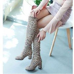 Freesia - Block-Heel Tall Boots