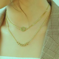 Tenri - Chain Layered Stainless Steel Necklace