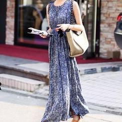 NINETTE - Sleeveless High-Waist Maxi Dress