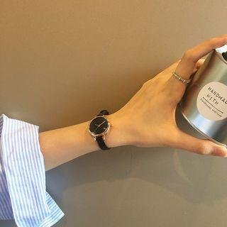 Saiki - Faux Leather Strap Watch