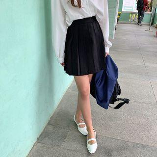 FROMBEGINNING - Accordion-Pleated Mini Skirt
