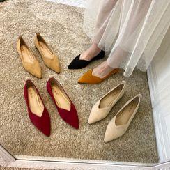 MIKOGI - 尖頭平跟鞋
