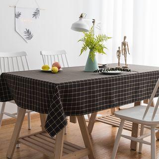 iMpressee - Plaid Linen Cotton Tablecloth