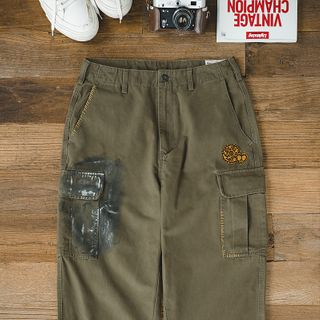 Maden - Badge Applique Cargo Pants