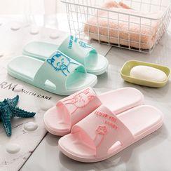 Showroom(ショウルーム) - Cat Bathroom Slippers