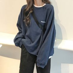 Surbane - Letter Print Sweatshirt