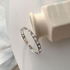 Krishya - 925 Sterling Silver Perforated Roman Number Bracelet