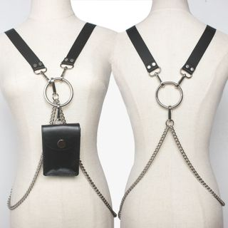 YUMINA - Body Harness with Faux Leather Pouch