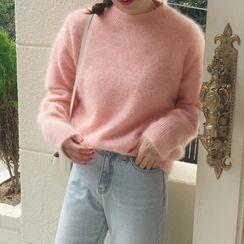Ashlee - Fluffy Plain Sweater