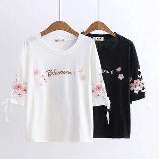 Kawaii Fairyland - Cherry Blossom Lace-Up Sleeve Top
