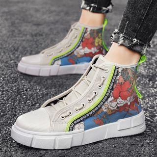 BELLOCK - Print Canvas High-top Sneakers