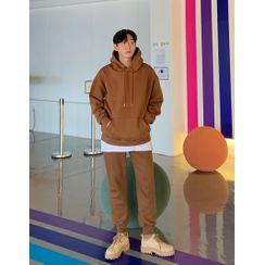 GERIO - Set: Fleece-Lined Boxy Hoodie + Jogger Pants