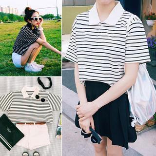 QZ Lady - Striped Short Polo Shirt