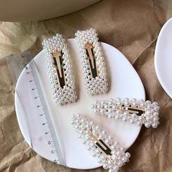 Miss Daily - Faux Pearl Hair Clip (2 Designs)