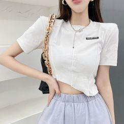 Bellesaurus - Short-Sleeve Paneled T-Shirt