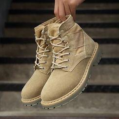TYCOON(タイクーン) - Fabric Short Boots / Fleece-lined Short Boots