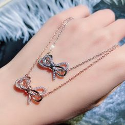 PALOMIR - Ribbon Bow Necklace