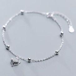 A'ROCH - 925 Sterling Silver Rhinestone Fox Bracelet