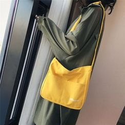 Behere - Letter Embroidered Canvas Tote Bag