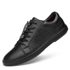 WeWolf - Faux-Leather Plain Lace-up Sneakers